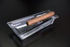 Cigar at ashtray Royalty Free Stock Photography