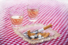 Cigar and ashtray Royalty Free Stock Photography