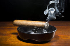 Cigar in Ashtray Stock Image