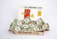 Free Cigar Box Full Of Money Stock Image - 144348871