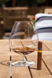 Cigar and brandy Royalty Free Stock Photography