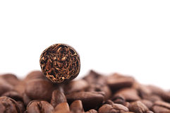 Cigar and coffee beans Stock Photography