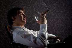 Cigar & cognac Stock Photos
