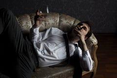 Cigar & cognac Stock Photo