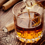 Cigar And Cognac Stock Image