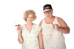 Cigar couple Royalty Free Stock Photography