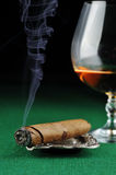 Cigar and drink Royalty Free Stock Photo