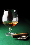 Cigar and drink Royalty Free Stock Photos