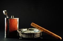 Cigar and drink Royalty Free Stock Image