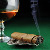 Cigar and drink Stock Photo