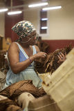 Cigar factory in Havana, Cuba. People working in a cigar factory in Havana, Cuba royalty free stock images