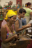 Cigar factory in Havana, Cuba Stock Image
