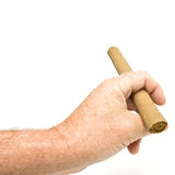 Cigar gesture Royalty Free Stock Image