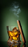 Cigar on green Royalty Free Stock Photography