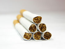 Cigar gun. Antismoke ad. It looks like a gun to make the idea that smoke kills Royalty Free Stock Image