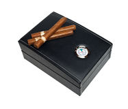 Cigar humidor Stock Images
