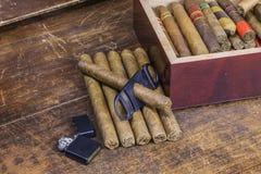 Cigar Layout Royalty Free Stock Photos