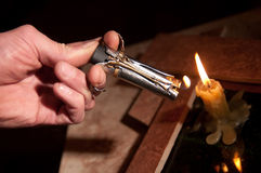 Cigar-lighter Royalty Free Stock Photo