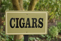 Cigar sign  Royalty Free Stock Images