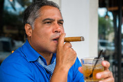 Cigar smoker Royalty Free Stock Image