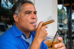 Cigar smoker Stock Photo