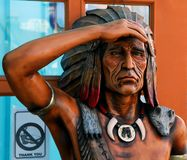 Cigar Store Indian Royalty Free Stock Photo