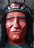Cigar Store Indian. Old carved cigar store Indian Royalty Free Stock Image