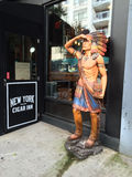 Cigar Store Indian. On the sidewalk in New York City royalty free stock photography