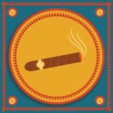 Cigar on stylized background Royalty Free Stock Image