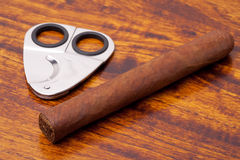 Cigar on table Stock Image