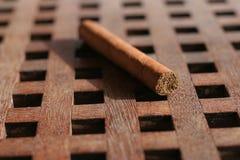 Cigar on table. Cuban cigar on table stock photos