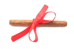 Cigar Tied With A Ribbon. Royalty Free Stock Image