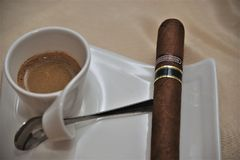 Cigar, Tobacco Products, Cup, Coffee Royalty Free Stock Images