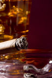Cigar and Whiskey Stock Images