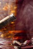Cigar and Whiskey Stock Photos