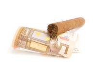 Cigare coûtant l'euro 50 Photo stock