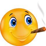 Cigare de tabagisme souriant de smileyEmoticon heureux d'émoticône Photo libre de droits