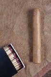 Cigare et allumettes. images libres de droits