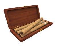 Cigares dans l'humidificateur d'isolement Images stock