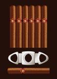 Cigares et massicot. illustration libre de droits