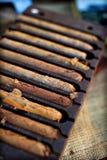 Cigares fabriqués à la main Photos libres de droits
