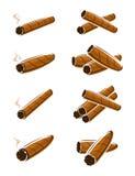 Cigares réglés Vecteur illustration stock