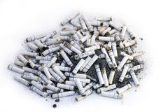 Cigaret Butts Royalty Free Stock Images