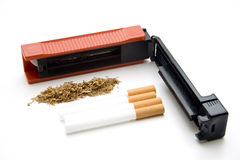 Cigarets darning appliance Royalty Free Stock Photos