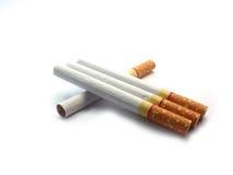 Cigarett på isolerat Royaltyfri Foto
