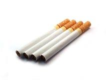 Cigarett på isolerat Royaltyfria Foton