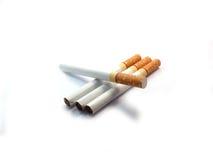 Cigarett på isolerat Arkivfoto