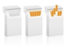 Cigarettaskar stock illustrationer