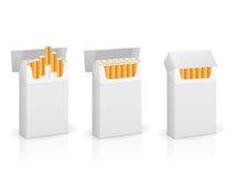 Cigarettaskuppsättning royaltyfri illustrationer