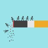 Cigarettbränning med folk royaltyfri illustrationer